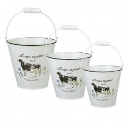 70% DTO - Linea MILK Balde deco Set/3