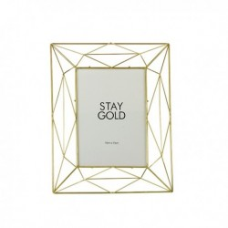 70% DTO MIN. 2 UN. - Portaretrato tramado dorado (foto 10x15)