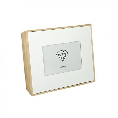 70% DTO MIN. 2 UN. - Portaretrato caja madera - foto 10x15