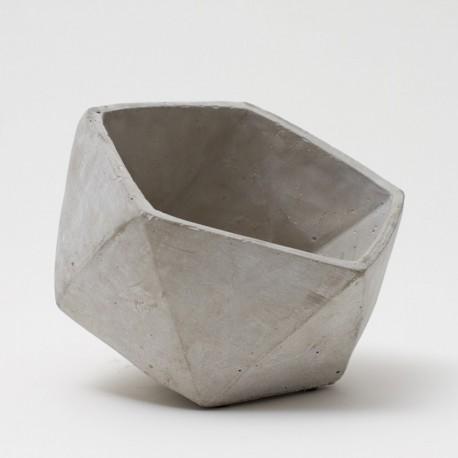 Maceta de cemento hexagonal new gde 20x16cm stassdeco - Maceta de cemento ...