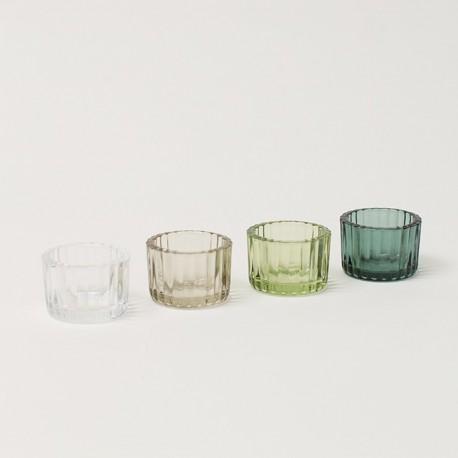 70% DTO MIN. 3 UN. - Portavela circular mini set x 4 - mix de colores - Medidas: 4x5,5cm