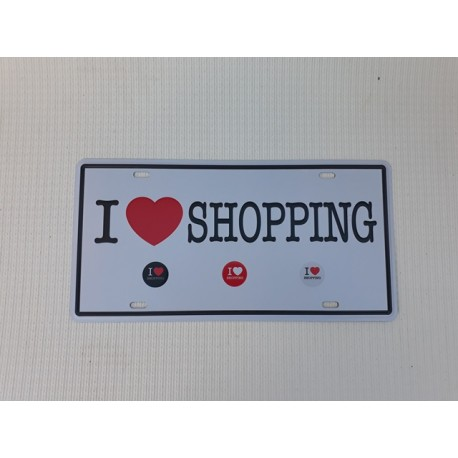 30% DTO. Chapa deco - I love shopping -