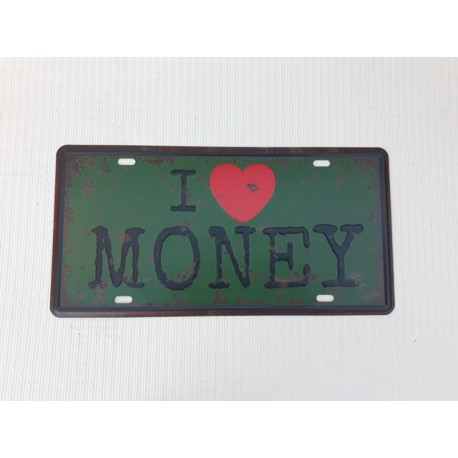 30% DTO. Chapa deco - I love money -
