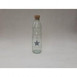 20% DTO. Botella de vidrio con tapa simil corcho Estrella gris