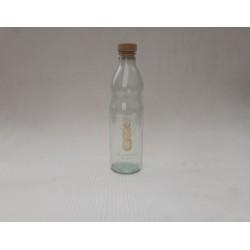 20% DTO. Botella de vidrio con tapa simil corcho Anana Dorada