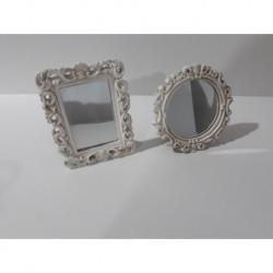 30% DTO. Mini espejito con marco vintage beige (porta foto) rectangular