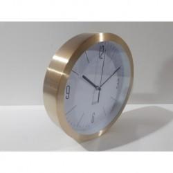 20% DTO. Reloj de pared redondo de metal dorado