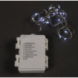 20% DTO. Tira de luces led a pila de 30 luces blancas