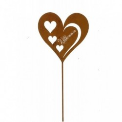 20% DTO. Accesorio pinche para maceta - corazon