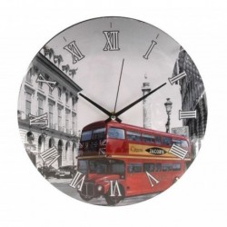 20% DTO. Reloj de pared redondo London con vidrio