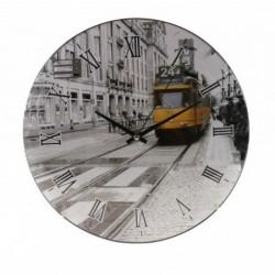 20% DTO. Reloj de pared redondo Metro con vidrio