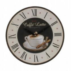 20% DTO. Reloj de pared de mdf coffe