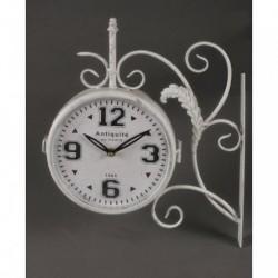 20% DTO. Reloj de pared de estacion blanco vintage