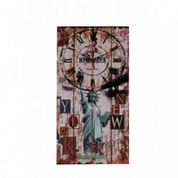 20% DTO. Reloj de pared de MDF vintage New York
