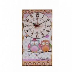 20% DTO. Reloj de pared de MDF vintage Buho