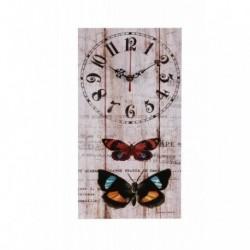 20% DTO. Reloj de pared de MDF vintage Mariposa