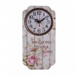 20% DTO. Reloj de pared de MDF vintage Welcome