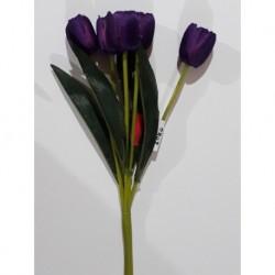 20% DTO. Flor artificial tulipan - colores varios - ramo x 5 unid