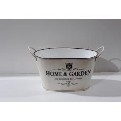 20% DTO. Canasto metal vintage beige con manija Home & Garden - chico