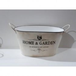 20% DTO. Canasto metal vintage beige con manija Home & Garden  - grande