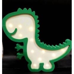 20% DTO.Cartel Luminoso de madera con profundidad dinosaurio