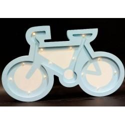 20% DTO.Cartel Luminoso de madera con profundidad bicicleta