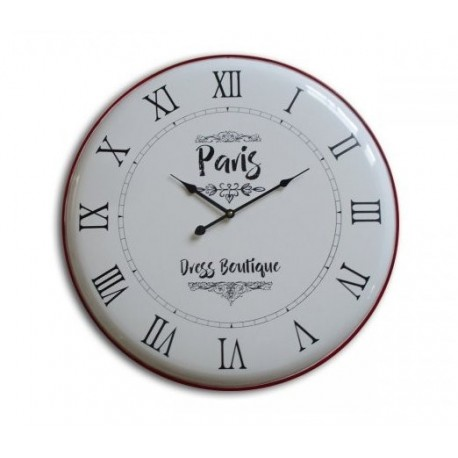 Reloj de pared simil enlosado rendodo vintage Paris