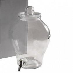 Bidon dispenser de vidro de 6 litros