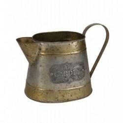 20% DTO. Macetero vintage zinc dorado jarra