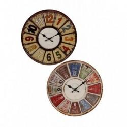 20% DTO. Reloj de pared redondo vintage colores