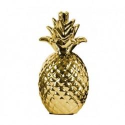 20% DTO. Anana de ceramica dorada