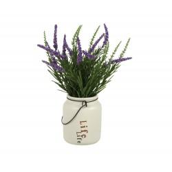 20% DTO. Planta artificial con maceta de ceramica Garden