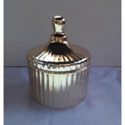 Potich de ceramica con tapa dorado
