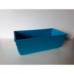 30% DTO. Maceta plastica rectangular azul