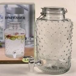 Bidon dispenser de vidro de 3,8 litros