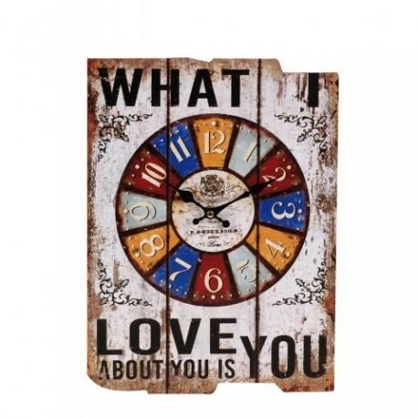 20% DTO. Reloj de parede de MDF vintage LOVE YOU