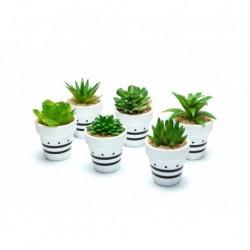 20% DTO. Planta artificial maceta de ceramica estampada