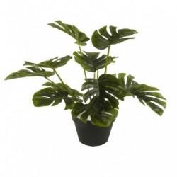 20% DTO. Planta artificial con maceta plastica Monstera 1