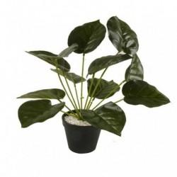 20% DTO. Planta artificial con maceta plastica Monstera 2