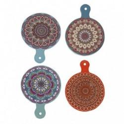 Apoya fuente de ceramica tabla mandalas surtidos