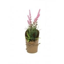 30% Dto. Plantita artificial flor rosa