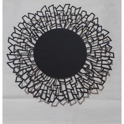 Centro de mesa metal negro mate Geometrico