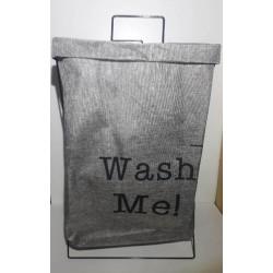 Canasto de ropa plegable gris con estampa
