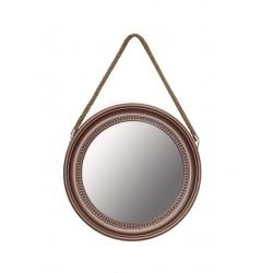 Espejo rectangular New biselado negro metalizado