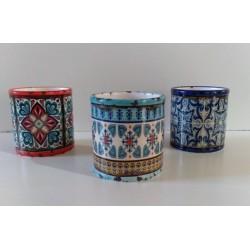 Maceta de ceramica redonda mediana