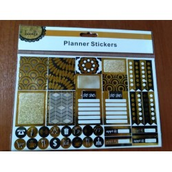 20% DTO. Sticker black and gold Planner - plancha por 38 unidades