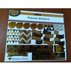20% DTO. Sticker black and gold Planner - plancha por 23 unidades