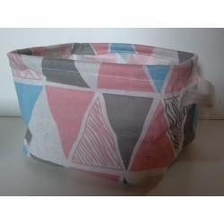 20% DTO. Canasto de tela semi rigidra rectangular con agarradera - estampa surtida