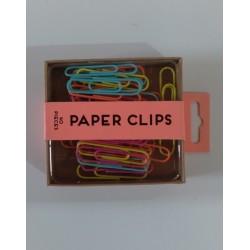 20% DTO. Set de oficina clips grande color fluor - 40 unidades
