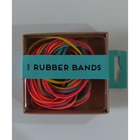 20% DTO. Set de oficina bandas elasticas color fluor - 25 gramos